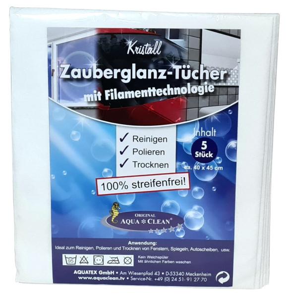 AQUA CLEAN Kristall Zauberglanz-Tücher mit Filamenttechnologie 5er Set