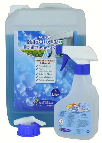 AQUA CLEAN PUR Kristallglanz Hochleistungs-Reiniger 5l Neu: Mit ANTISTATIK-Formel
