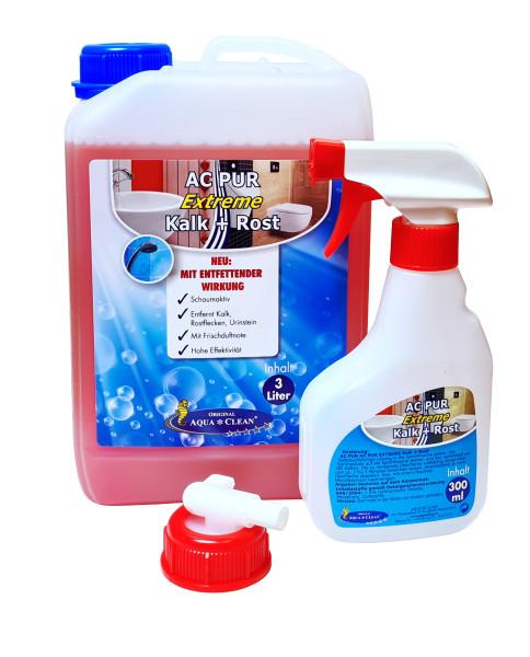 AQUA CLEAN PUR Extreme gegen Kalk Rost & Urinstein mit entfettender Wirkung 3l