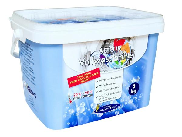 AQUA CLEAN PUR Vollwaschmittel Anti-Grauschleier & Flecken-Booster 3 kg