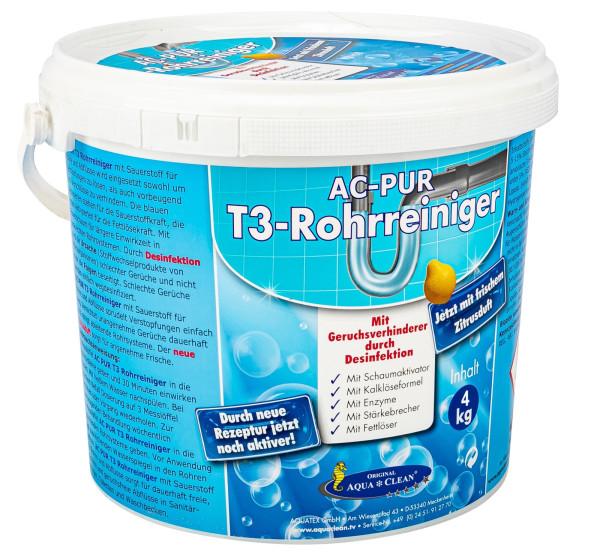 AQUA CLEAN PUR T3 - Rohrreiniger 4kg Mit Geruchsverhinderer durch Desinfektion