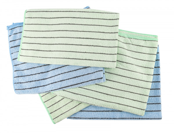 AQUA CLEAN Kristall Carbotex Bodentuch 5er Set bunt