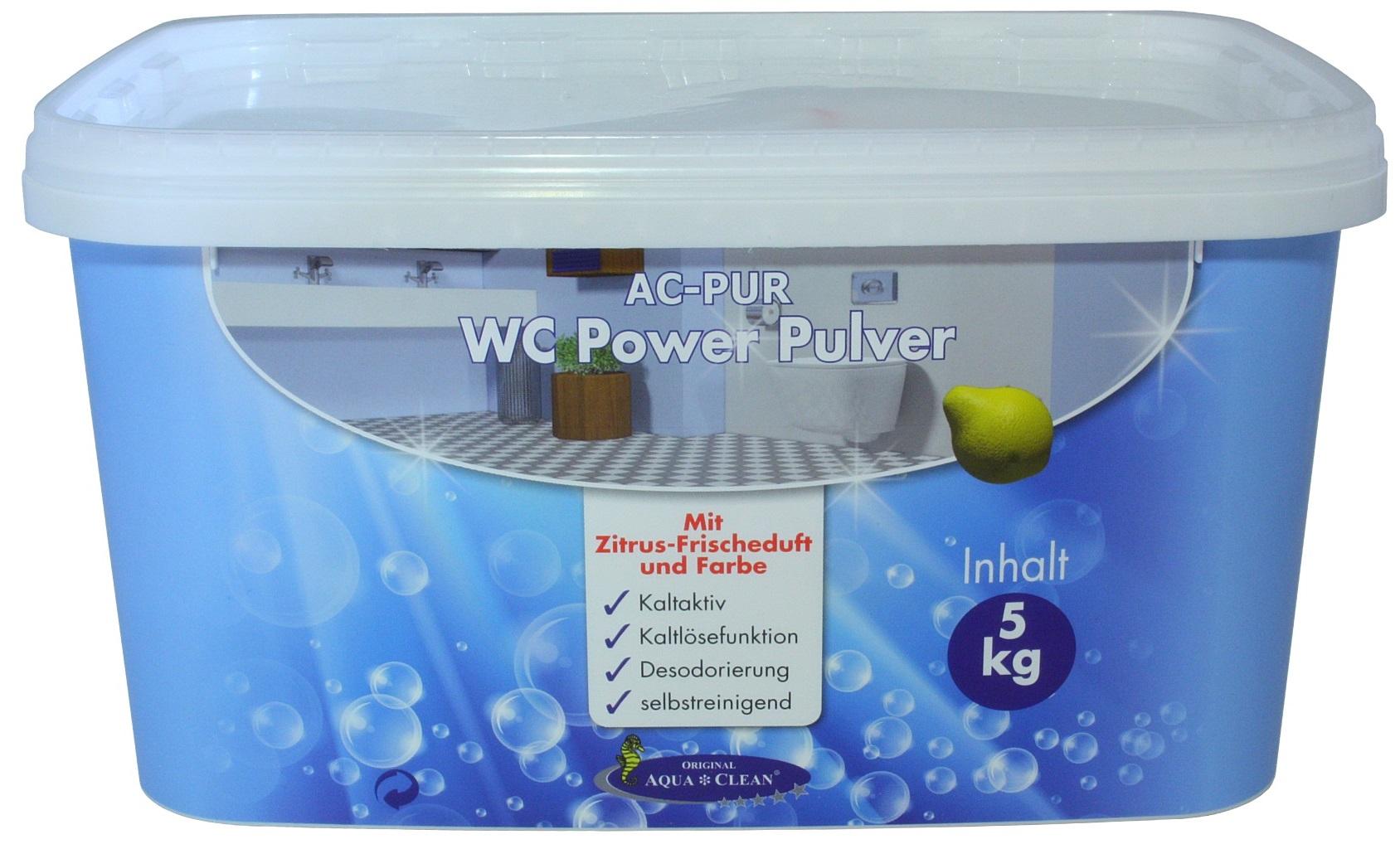 aqua clean wc power pulver 5kg neu mit zitrus frischeduft. Black Bedroom Furniture Sets. Home Design Ideas