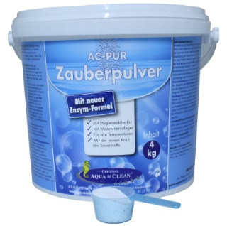 AQUA CLEAN PUR Zauberpulver Waschkraftverstärker mit extra Flecklöse- kraft, 4kg