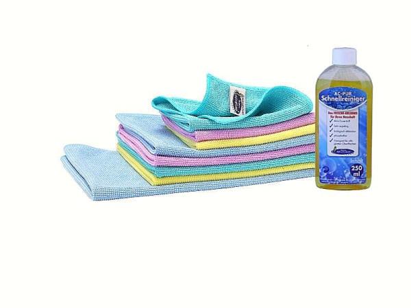 AQUA CLEAN Kristall Plus Universal- Reinigungstücher + Schnellreiniger 9tlg.