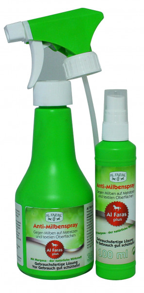AL FARAS Anti-Milbenspray für Matratzen & text. Oberflächen 100ml & 350ml