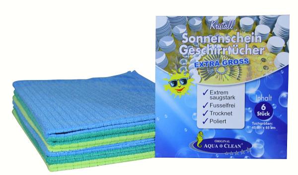 AQUA CLEAN Geschirrtuch Sonnenschein Kristall 6er Set Extra Groß