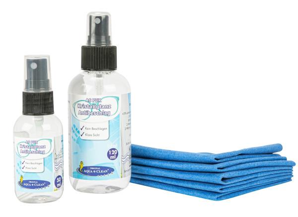 AQUA CLEAN PUR Kristallglanz Antibeschlag für Brillen, Scheiben & Spiegel, 6tlg.