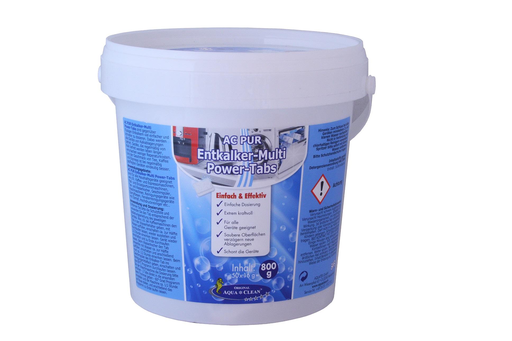 aqua clean pur entkalker multi power tabs 50 st ck aqua clean direkt vom hersteller. Black Bedroom Furniture Sets. Home Design Ideas