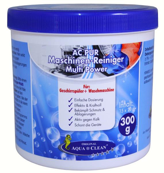 AQUA CLEAN PUR Maschinen-Reiniger für Waschmaschinen & Geschirrspüler 15 Tabs ( 300g )