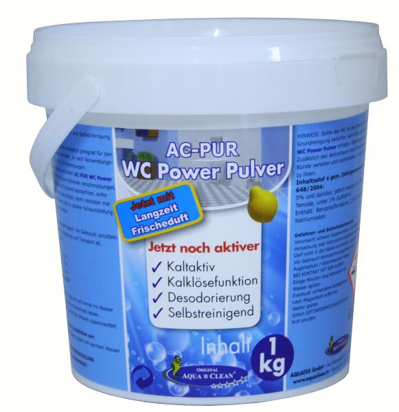 AQUA CLEAN WC Power Pulver 1kg mit Langzeit Frischduft