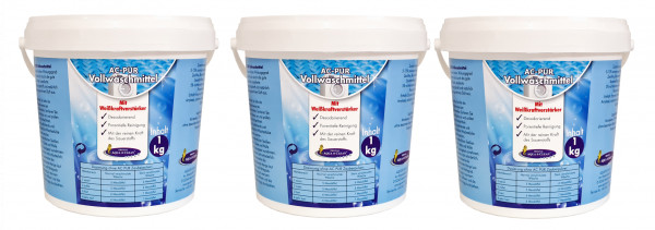 AC-PUR Vollwaschmittel 3x 1kg