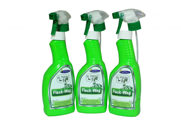AQUA CLEAN AL FARAS Fleck Weg Spray 3x 500ml