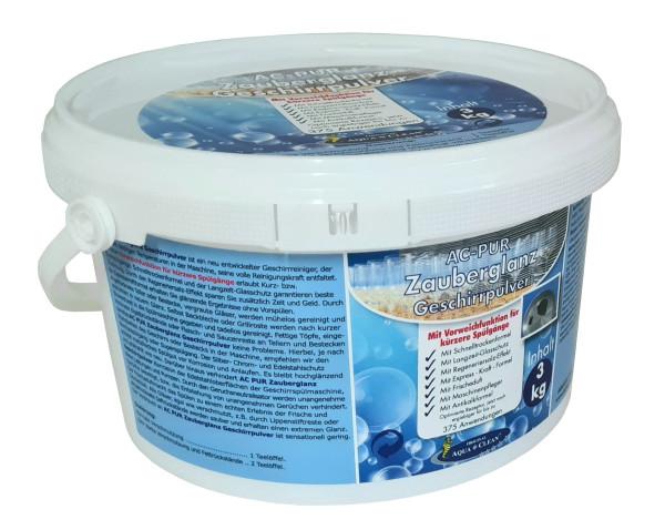 AC-PUR Zauberglanz Geschirrpulver 3 kg neu mit Vorweichfunktion für kürzere Spülgänge