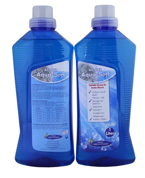 AQUA CLEAN PUR Wasserenthärter-Gel höchste Lösekraft gegen Schmutz & Kalk 2x 1l