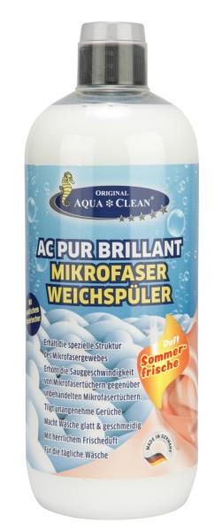 AQUA CLEAN PUR Brillant Weichspüler für Mikrofaser 1l