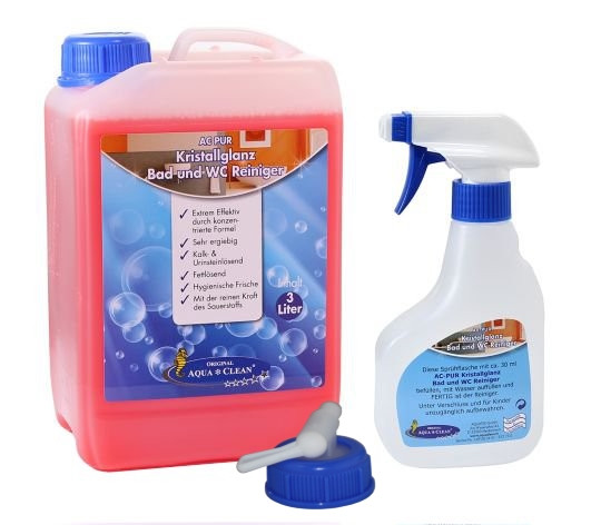 AQUA CLEAN PUR Kristallglanz Bad und WC Reiniger 3l Hochkonzentrat
