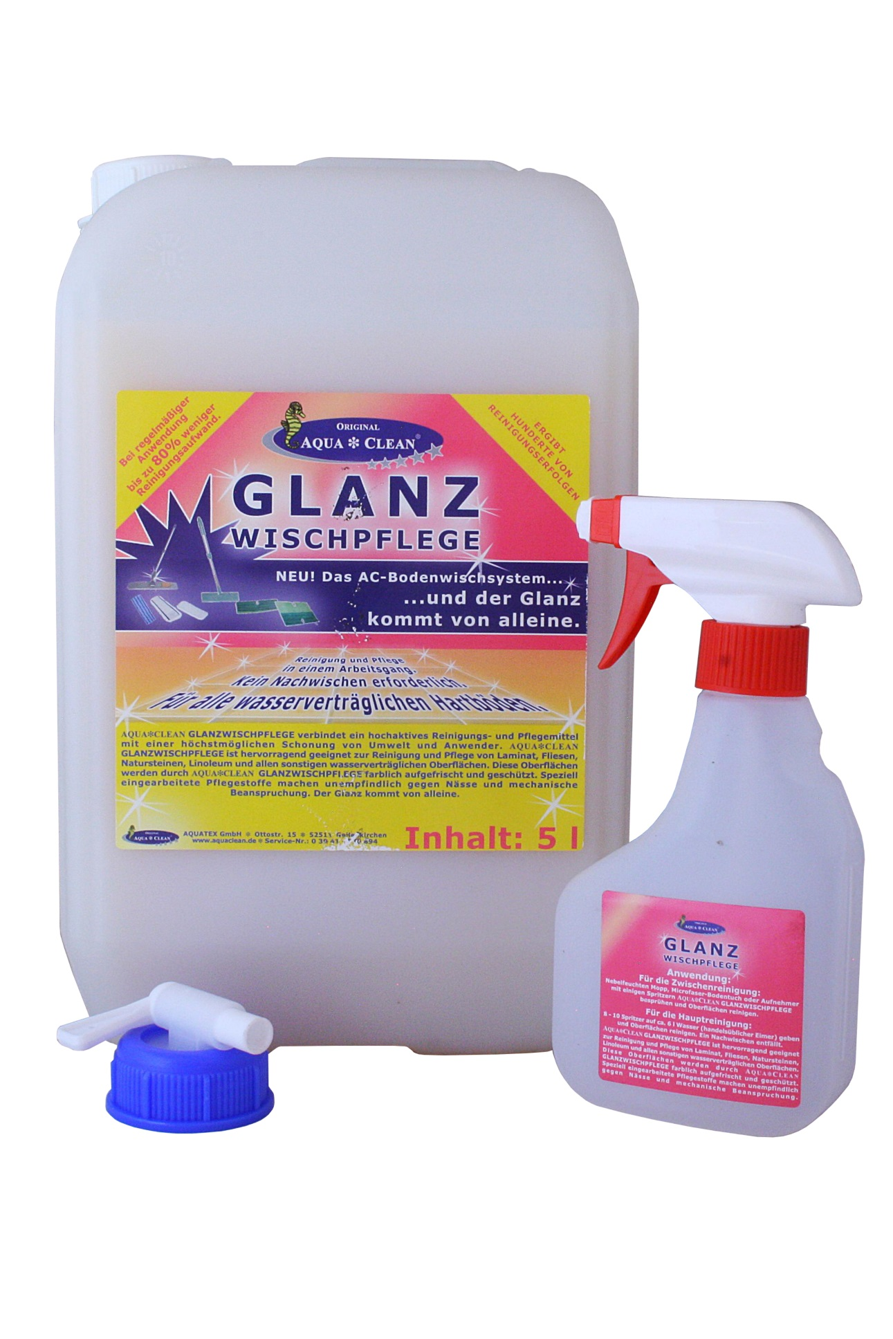 aqua clean glanzwischpflege 5l aqua clean direkt vom. Black Bedroom Furniture Sets. Home Design Ideas