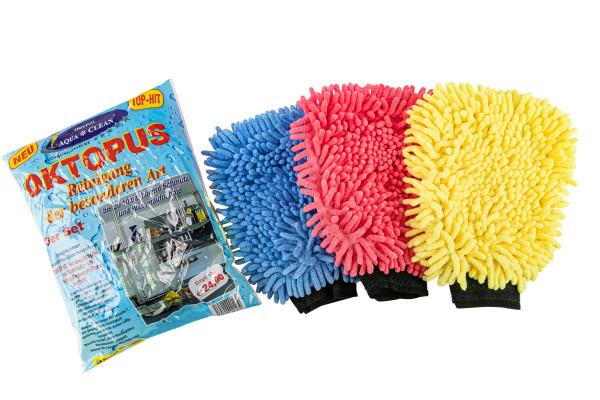 AQUA CLEAN Oktopus Handschuh 3er Set