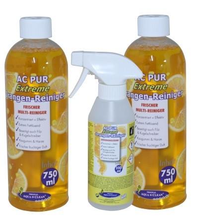 AQUA CLEAN PUR Extreme Orangenreiniger Konzentrat 2x 750ml