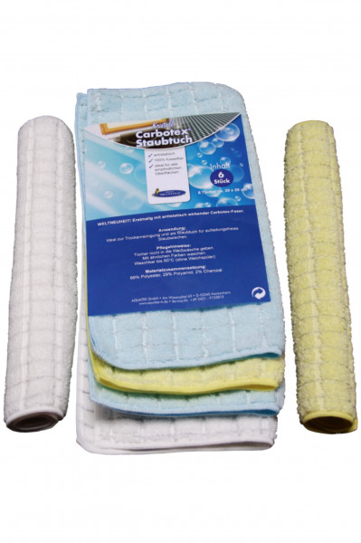 AQUA CLEAN Kristall Carbotex Staubtuch 6er Set
