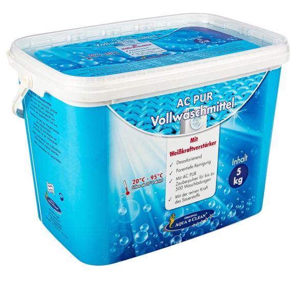 AQUA CLEAN PUR Vollwaschmittel mit Farb-& Faserschutz und Weisskraftverstärker 5kg