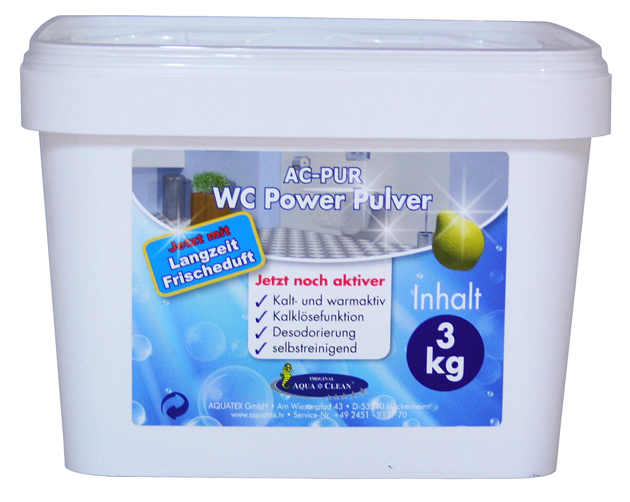 aqua clean wc power pulver 3kg mit langzeit frischduft. Black Bedroom Furniture Sets. Home Design Ideas