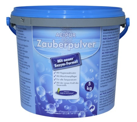AQUA CLEAN PUR Zauberpulver Waschkraftverstärker mit extra Flecklösekraft, 5kg