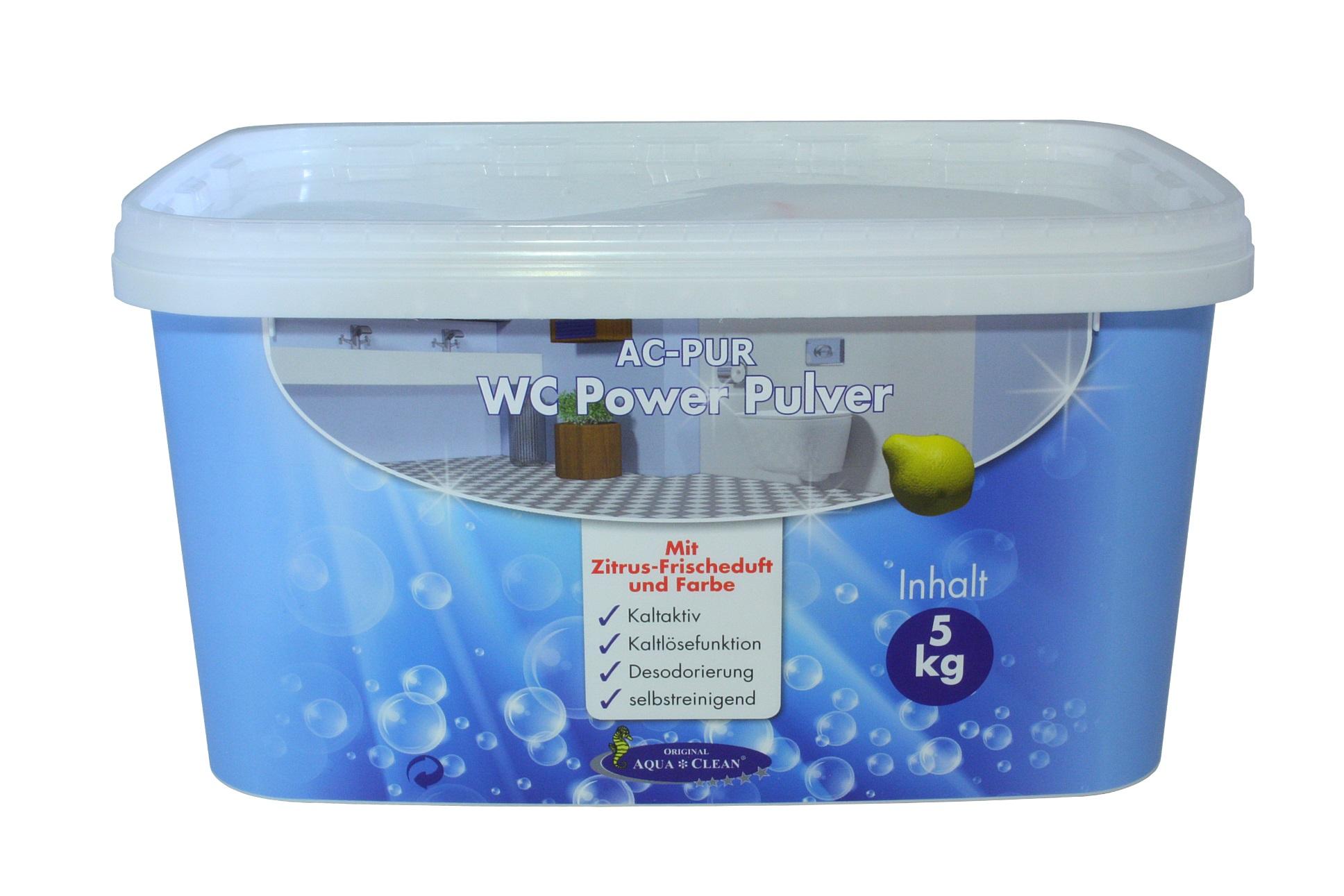 aqua clean wc power pulver 5kg neu mit zitrus frischeduft und farbe aqua clean direkt vom. Black Bedroom Furniture Sets. Home Design Ideas