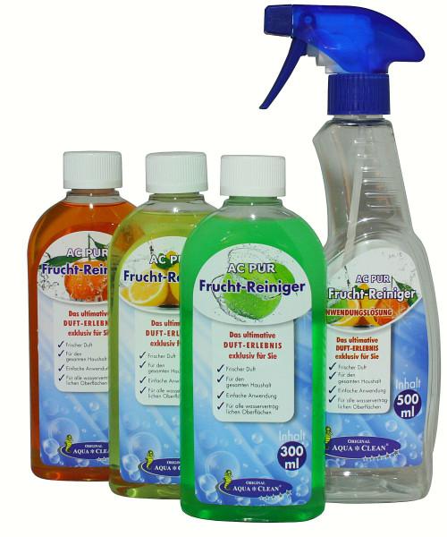 AQUA CLEAN PUR Fruchtreiniger Konzentrat effizienter Fettlöser 3x 300ml