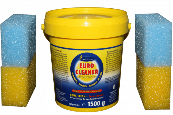 AQUA CLEAN Eurocleaner 1,5kg inkl. 4 Schwämme
