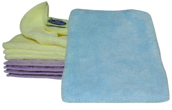 AQUA CLEAN Kristall Staubtücher & Handschuh 10ert Set