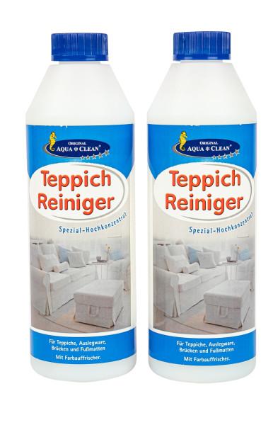 AQUA CLEAN Teppich Reiniger Spezial-Hochkonzentrat 2x 500ml