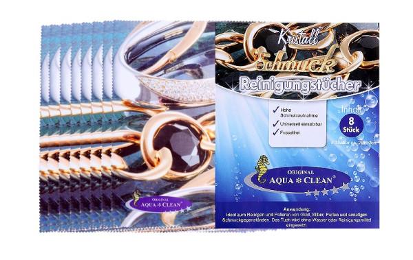 AQUA CLEAN Brillen und Schmuck-Reinigungstücher 8er Set