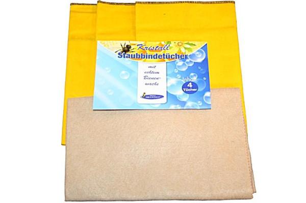 AQUA CLEAN Kristall Staubbindetücher mit echtem Bienenwachs 4er Set