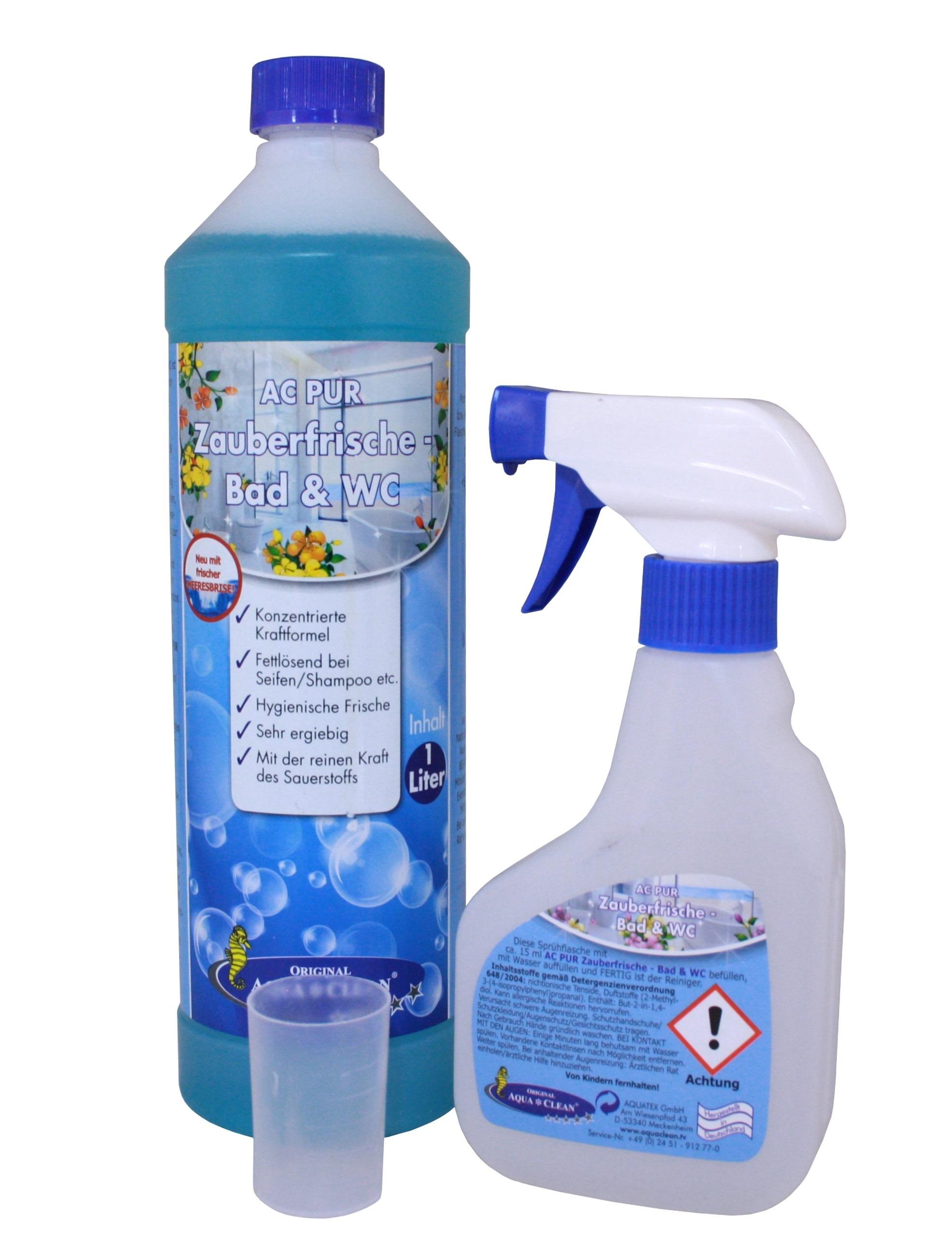 Uitzonderlijk AQUA CLEAN PUR Zauberfrische Bad und WC Reiniger Konzentrat 1l XO57