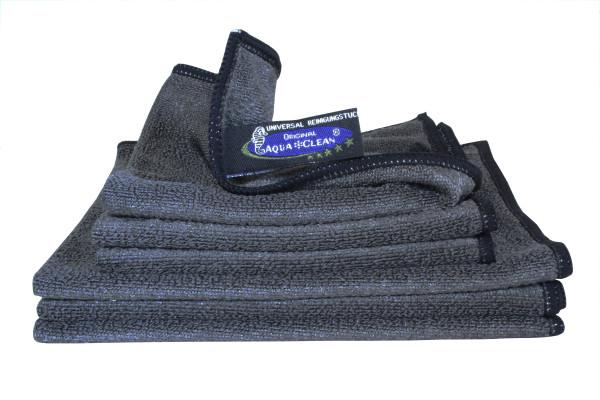 AQUA CLEAN Mikrofaser Reinigungstücher Black Edition 6tlg.