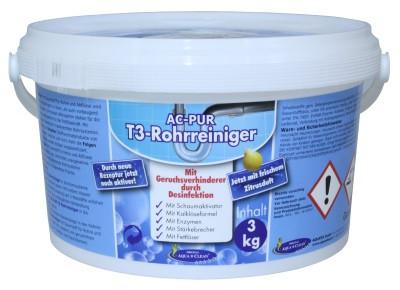 AC PUR Rohrreiniger T3 mit frischem Zitrusduf & Geruchsverhinderer durch Desinfektion 3kg