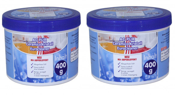 AQUA CLEAN PUR Ceramico Kristall Eurocleaner mit Abperleffekt 2x 400g