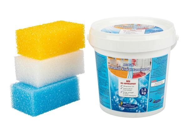 AQUA CLEAN PUR Ceramico Kristall Eurocleaner mit Abperleffekt 1,5kg