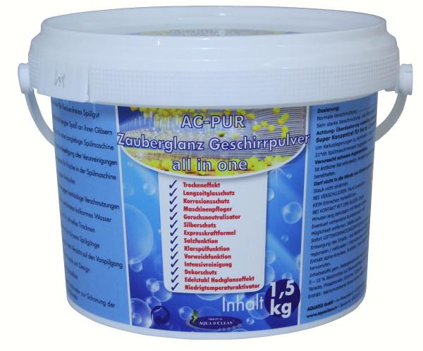 AQUA CLEAN PUR Zauberglanz Geschirrpulver 14in1 multifunktional 1,5kg