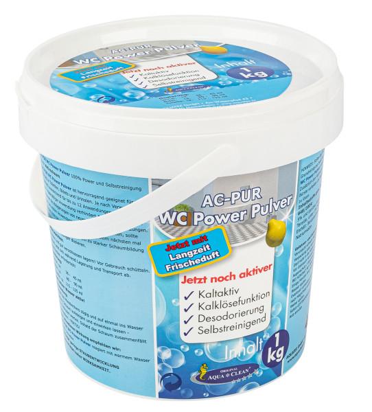 AQUA CLEAN WC Power Pulver 1kg mit Langzeit Frischeduft