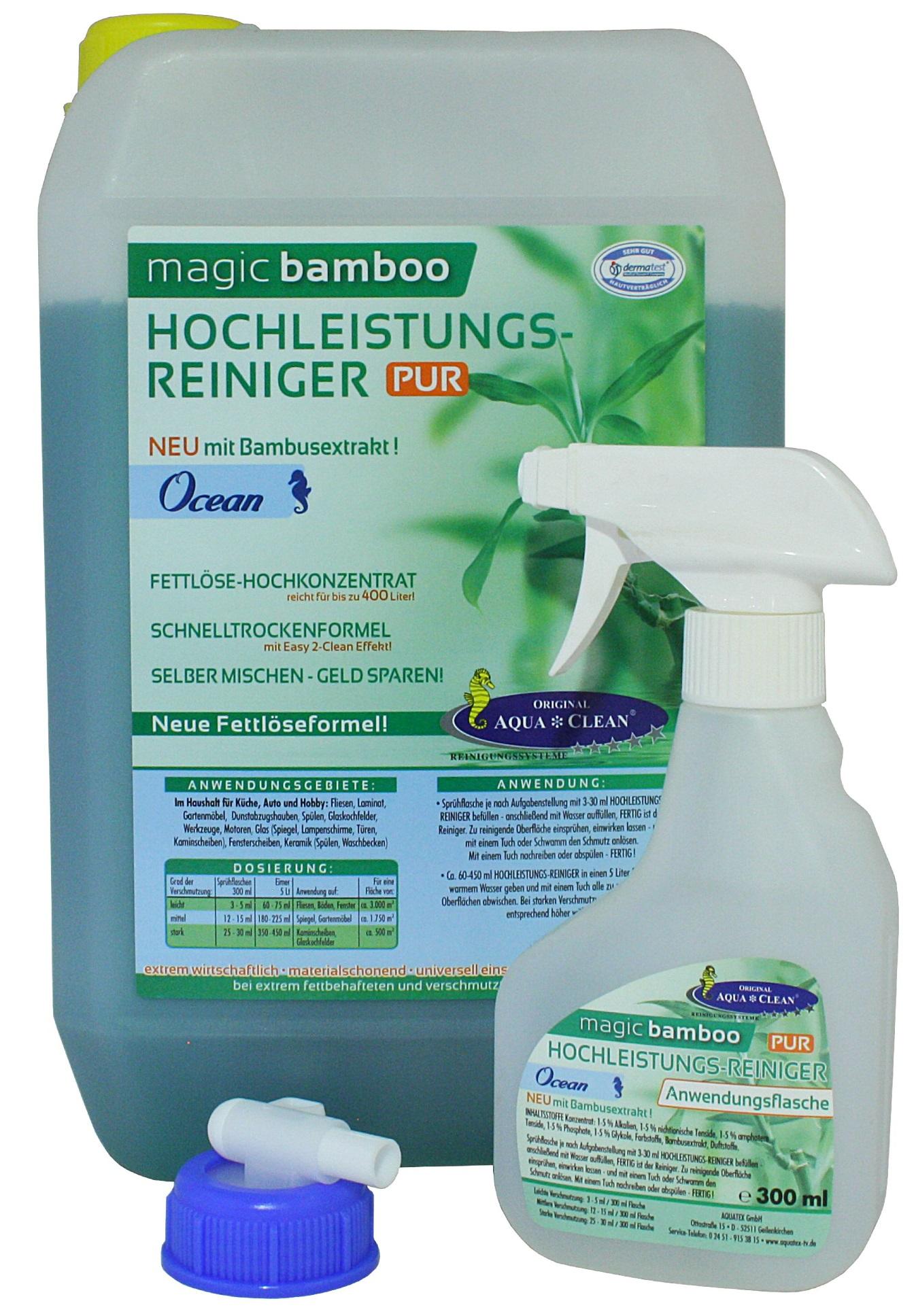 aqua clean magic bamboo hochleistungsreiniger 5l aqua. Black Bedroom Furniture Sets. Home Design Ideas