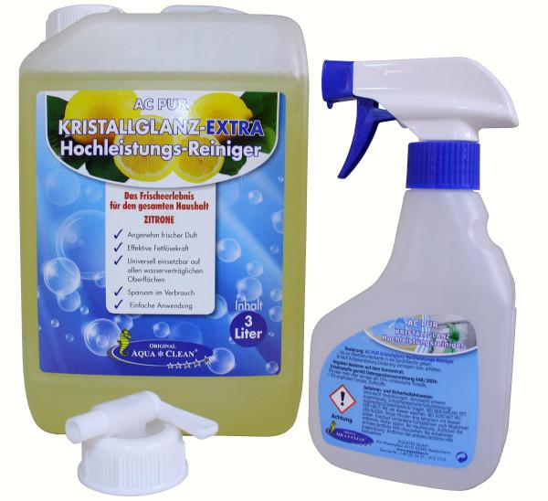 AQUA CLEAN PUR Kristallglanz Extra Hochleistungsreiniger mit Frischeduft 3l