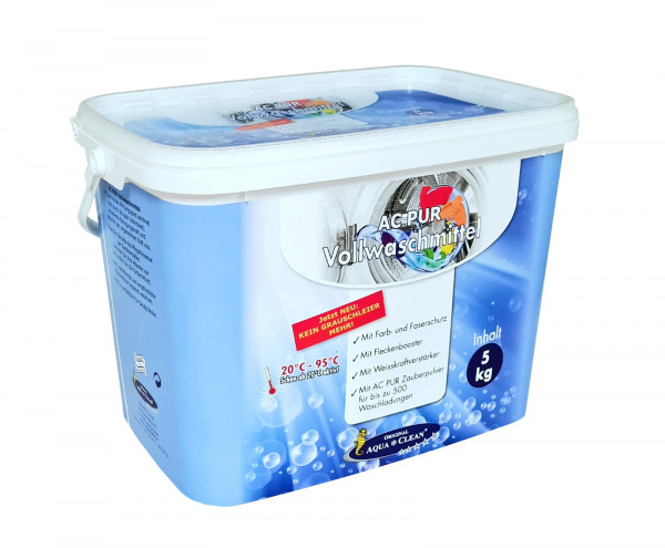 AQUA CLEAN PUR Vollwaschmittel Anti-Grauschleier & Flecken-Booster 5kg