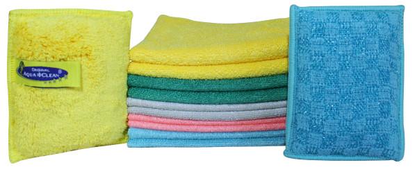 AQUA CLEAN Clean Effekt Reinigungstücher & Schwämme, keim- reduzierend, 12tlg.
