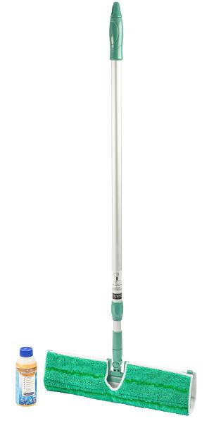 AQUA CLEAN Doppelmopp Wischsystem inkl. Bodenreiniger 3er Set
