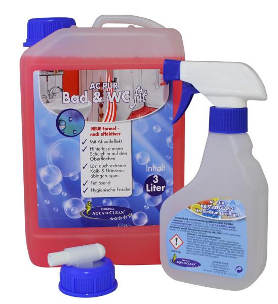 AQUA CLEAN PUR Bad & WC fit Reiniger 3l Hochkonzentrat