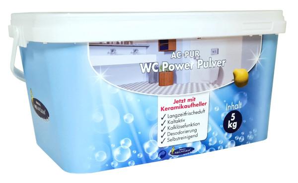 AQUA CLEAN PUR WC Power Pulver Kalklösefunktion & Keramikaufheller 5 kg