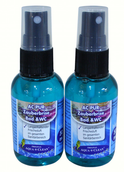 AQUA CLEAN PUR Zauberbrise Bad & WC 2x 50ml
